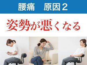 腰痛の二番目の原因は悪い姿勢にあります。